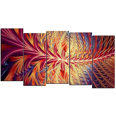 Designart In Sync 5-Panel Canvas Art Print, (PT3006-1084)