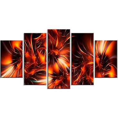 Designart Orange Startbusts Contemporary Canvas Art, (PT3060-373)