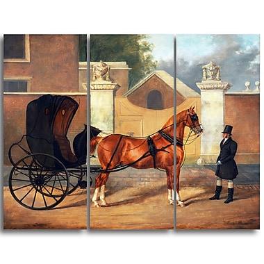 Designart Charles Hancock, Gentlemens Carriages Landscape Canvas Arwork, (PT4219-3P)
