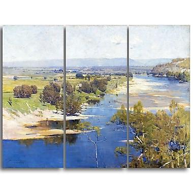 Designart – Arthur Streeton, la puissance violette transparente du midi, imprimé sur toile (PT4160-3P)
