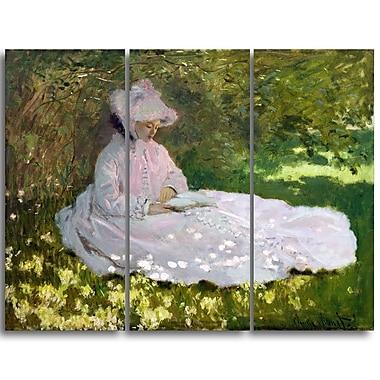 Designart – Tableau paysage imprimé sur toile, Le Printemps de Claude Monet (PT4258-3P)