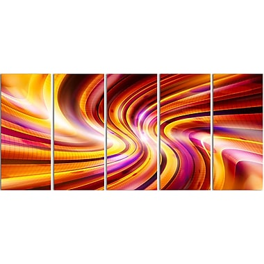 Designart Warm Rainbow Abstract Contemporary Canvas Art, (PT3051-401)