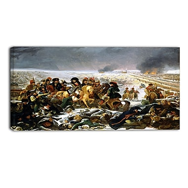 Designart Antoine-Jean Gros, Napoleon on the Battlefield Master Piece Landscape Artwork, (PT4145-32-16)