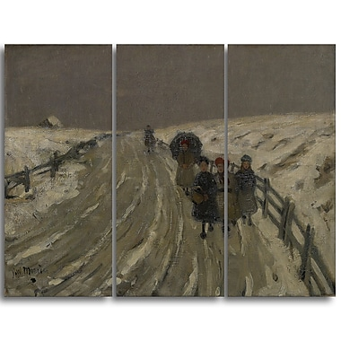 Designart James Wilson Morrice, Return from School Canvas Art Print, (PT4548-3P)