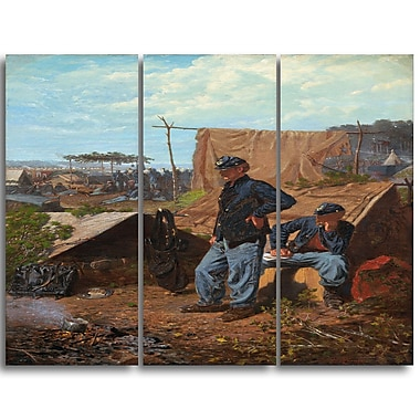 Designart Winslow Homer, Home, Sweet Home Canvas Art Print, 3 Panels, (PT5022-3P)