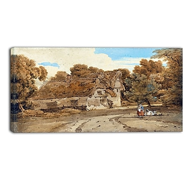 Designart Thomas Girtin, Turvers Farm Canvas Art Print, (PT4958-32-16)