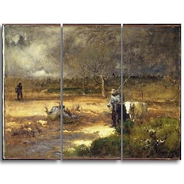Designart George Inness, Homeward Landscape Canvas Art Print, (PT4418-3P)