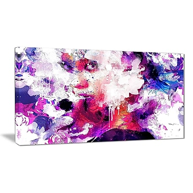 Designart Abstract Beauty Sensual Canvas Art Print, (PT2909-32-16)