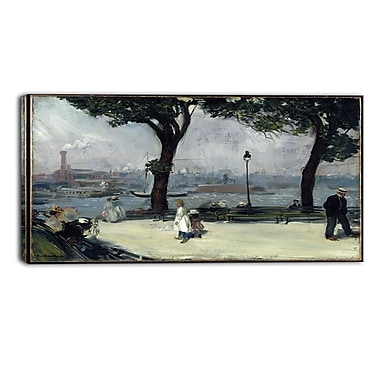 Designart William Glacken, East River Park Canvas Art Print, (PT5010-32-16)