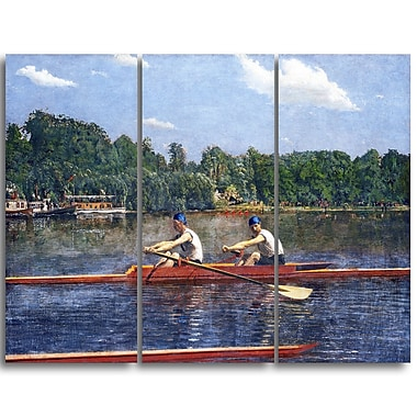 Designart Thomas Eakins, The Biglin Brothers Racing Canvas Art Print, (PT4944-3P)