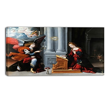 Designart Garofalo, Annunciation Canvas Art Print, (PT4408-40-20)