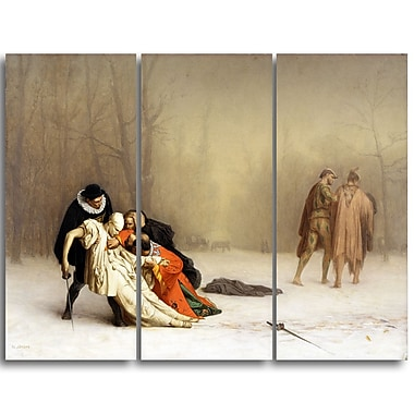 Designart Jean Leon Gerome, The Duel After the Masquerade Canvas Art Print, (PT4583-3P)