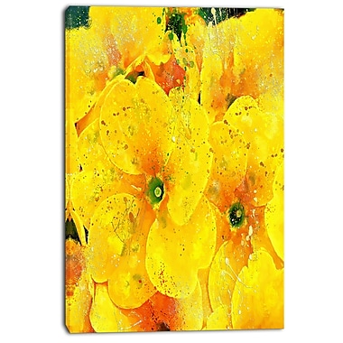 Designart Bunch of Yellow Flowers Floral Canvas Art Print, (PT3441-24-40)