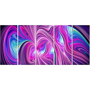 Designart Pink and Blue Wonder Contemporary Canvas Art, (PT3055-401)