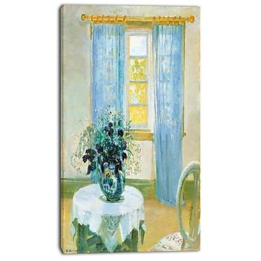 Designart Anna Ancher, Interior with Clematis Canvas Art Print, 3 Panels, (PT4139-20-40)