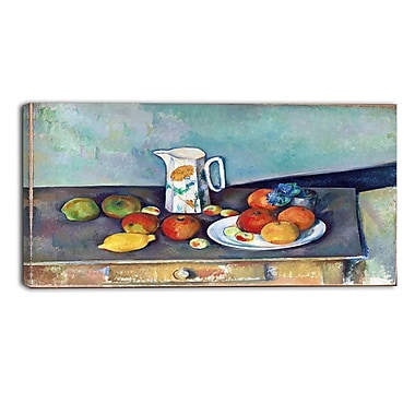 Designart Paul Cezanne, Still Life Canvas Art Print, 3 Panels, (PT4769-32-16)