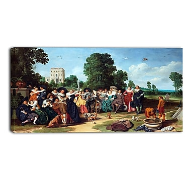 Designart Dirck Hals, The Outdoor Party Landscape Canvas Art Print, (PT4299-40-20)