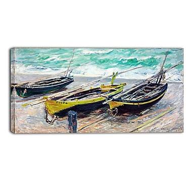 Designart – Imprimé sur toile, Trois bateaux de pêche de Claude Monet (PT4242-40-20)