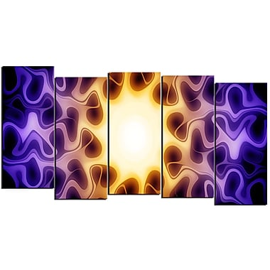 Designart Light Shine Through 5-Panel Modern Canvas Art Print, (PT3042-1084)