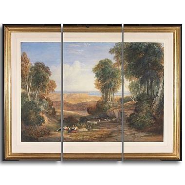 Designart David Cox, The Junction of the Severn and the Wye Landscape Canvas Arwork, (PT4283-3P)
