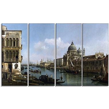 Designart – Toile imprimée, Vue du Grand canal, Bernardo Bellotto
