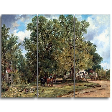 Designart – Frederick W Watts, paysage avec demeures, paysage imprimé sur toile (PT4403-3P)