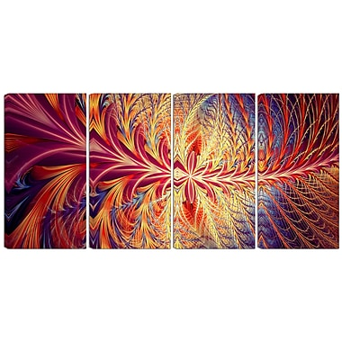 Designart In Sync 4-Panel Canvas Art Print, (PT3006-271)