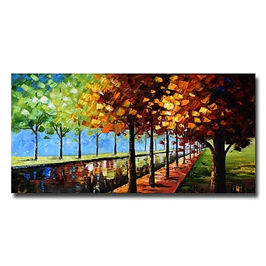 Designart Changing Colours Landscape Trees Canvas Art Print, 40