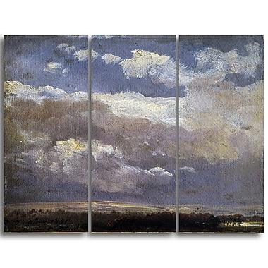 Designart JC Dahl, Thunderclouds Canvas Art Print, (PT4578-3P)