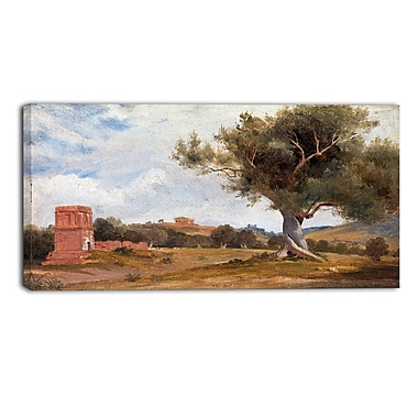 Designart Charles Lock Eastlake, A View at Girgenti in Sicily Landscape Canvas Arwork, (PT4220-32-16)