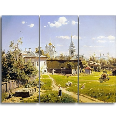 Designart Vasily Polenov, Moscow Patio Canvas Art Print, (PT4986-3P)