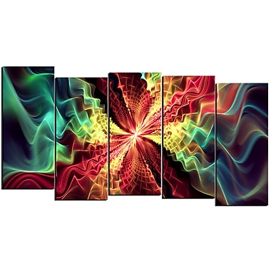 Designart Hypnotize 5-Panel Abstract Multi, (PT3029-1084)