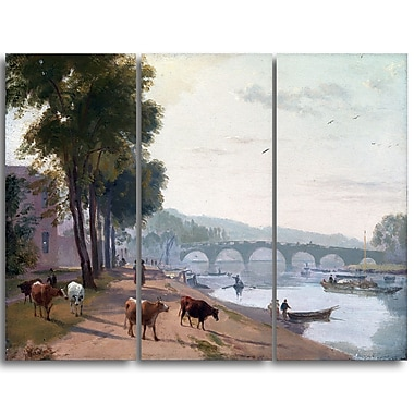 Designart – Toile imprimée de Sir Augustus Wall Callcott « A View of Richmond Bridge » (PT4925-3P)