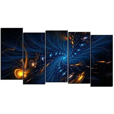 Designart Illumination 5-Panel Abstract Canvas Art Print, (PT3000-1084)
