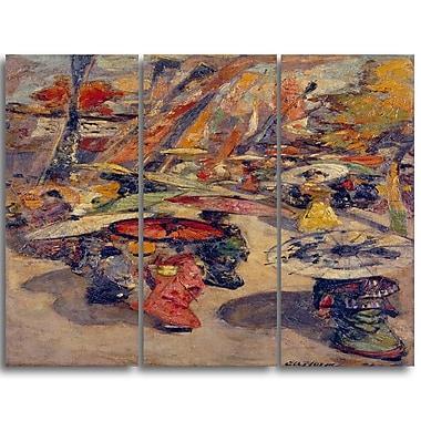 Designart – Imprimé sur toile, Scène de rue à Tokyo d'Edward Atkinson Hornel (PT4324-3P)