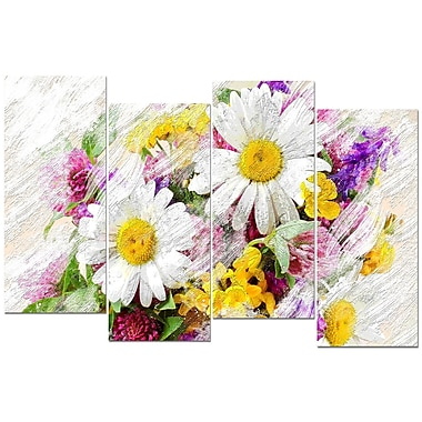 Designart Wild Flowers Bouquet Canvas Art Print, (PT3436-271)
