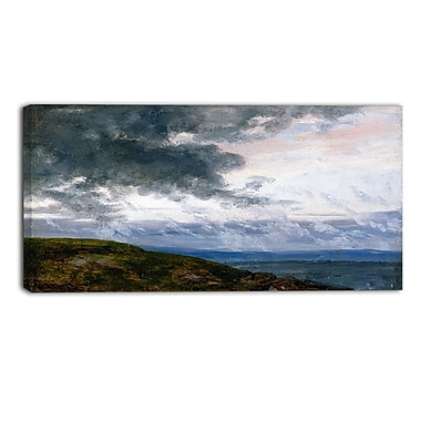 Designart JC Dahl, Study of Drifting Clouds Sea & Shore Canvas Art Print, (PT4568-32-16)