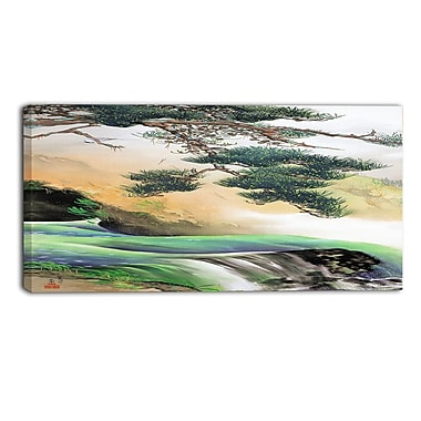 Designart – Toile imprimée, La montagne asiatique au printemps, Yamamoto Shunkyo (PT5023-40-20)