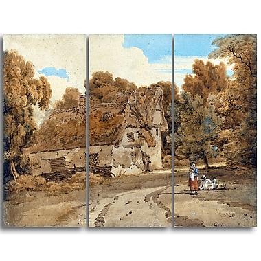 Designart – Imprimé sur toile, Ferme de Turver, Thomas Girtin (PT4958-3P)