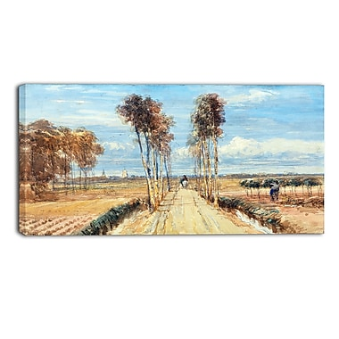 Designart David Cox, The Poplar Avenue Landscape Canvas Arwork, (PT4290-32-16)