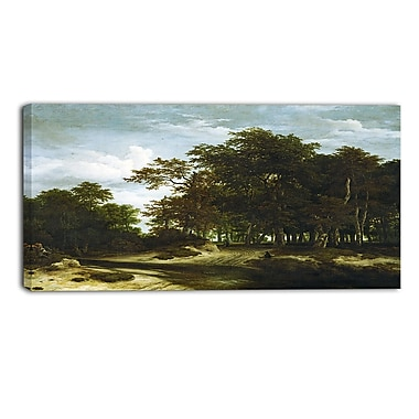 Designart Jacob van Ruisdael, The Great Forest Canvas Art Print, (PT4530-32-16)