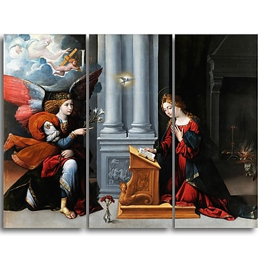 Designart Garofalo, Annunciation Canvas Art Print, (PT4408-3P)