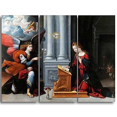 Designart – Garofalo, l'Annonciation, impression sur toile (PT4408-3P)