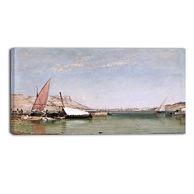 Designart Edward William, Toulon Canvas Art Print, (PT4346-40-20)