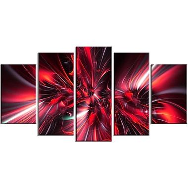 Designart – Art imprimé sur toile, implosion rouge (PT3032-373)