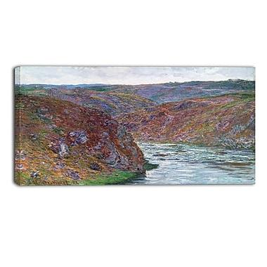 Designart Claude Monet, Valley of the Creuse Landscape Canvas Arwork, (PT4265-40-20)