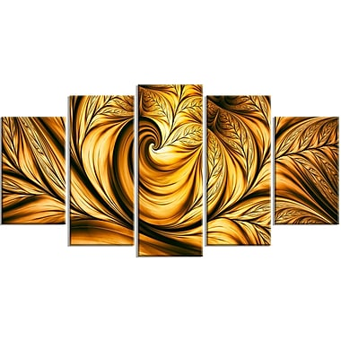 Designart Golden Dream Canvas Art Print, 5 Panels, (PT3026-373)