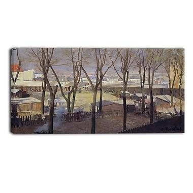 Designart Santiago Rusinol, La Butte Canvas Art Print, (PT4920-40-20)