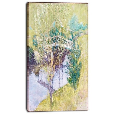 Designart John Henry Twatchman, The White Bridge Canvas Art Print, 3 Panels, (PT4646-16-32)