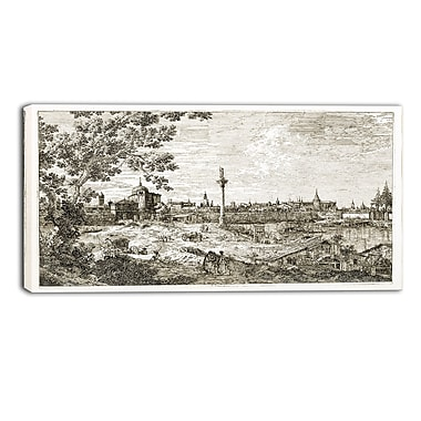 Designart Canaletto, Imaginary View of Padua Landscape Canvas Arwork, (PT4201-40-20)